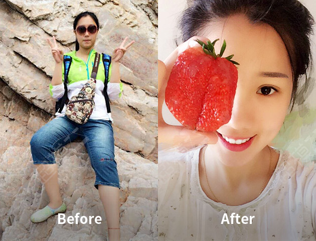 减肥成功的姑娘会发光